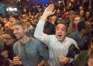 La soirée électorale de Projet Montréal a fait vibrer le Théâtre Corona alors que les bonnes nouvelles s'enchainaient.
