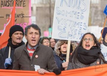 Amir Khadir et Alejandra Zaga Mendez, qui vise l'investiture dans Bourassa-Sauvé (Montréal-Nord)