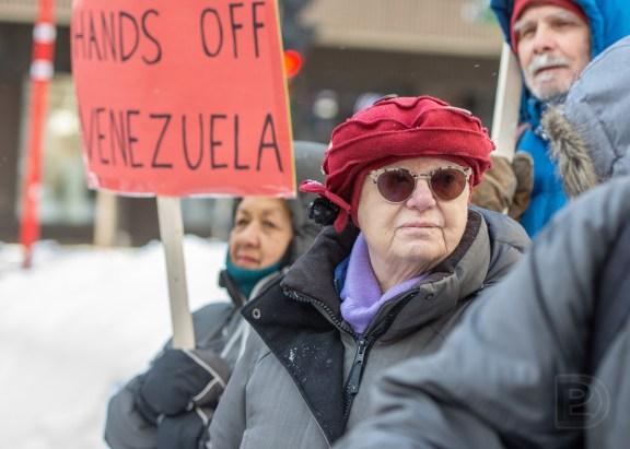Manifestation contre le coup d'État au Venezuela et pro-Nicolas Maduro, actuel président