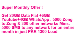 Zong Super Monthly Offer