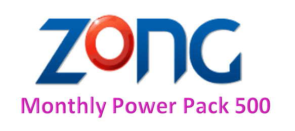 Zong Monthly Power Pack 500 Bundle