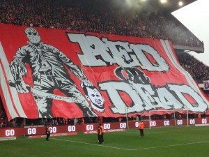 Red or Dead tifo