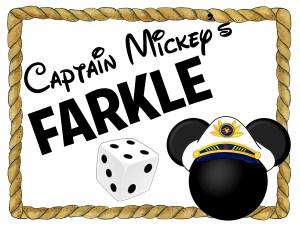 Captain mickey farkle Disney cruise free printable dice game