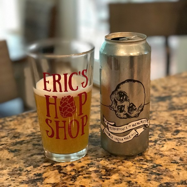 Eric's Hop Shop custom pint glass beer