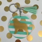 Australian Shepherd keychain dog breed acrylic