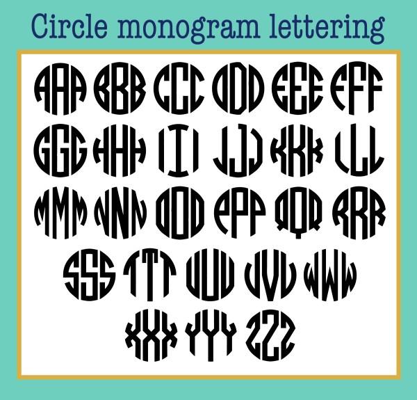 circle monogram lettering