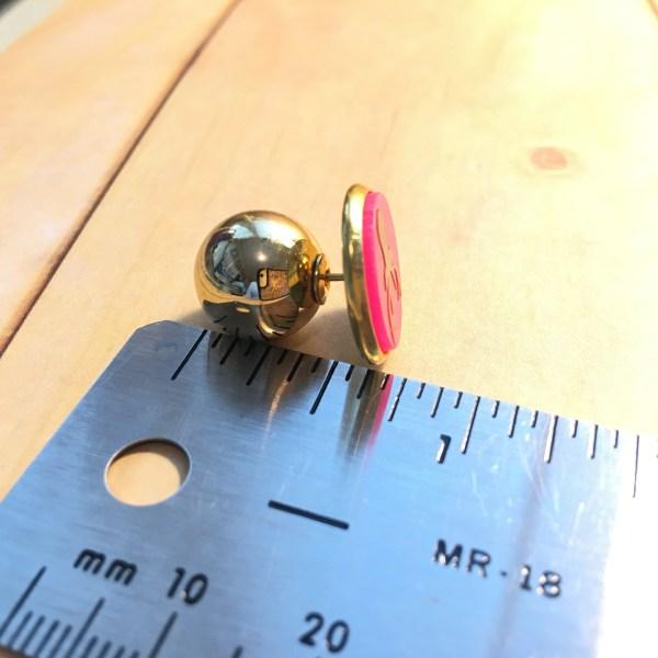 12mm gold bead back for earrings