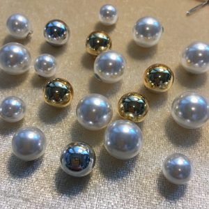 pearl & bead backs for earrings