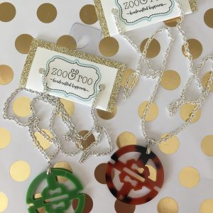 necklaces round acrylic pendants