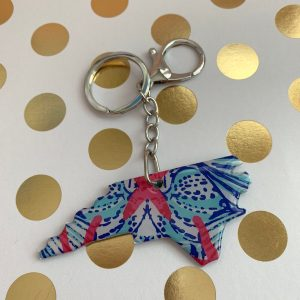 "NC keychain in ""She Shells"" by zoo&roo"