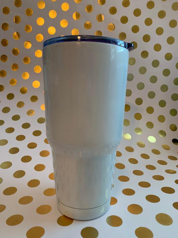stainless tumbler white