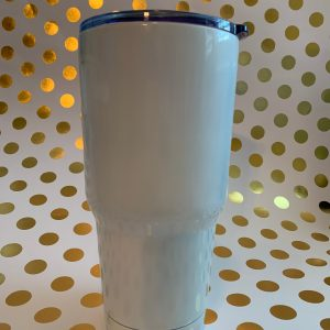 stainless tumbler white