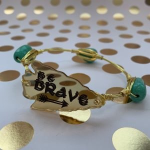 NC be brave wire wrapped bracelet