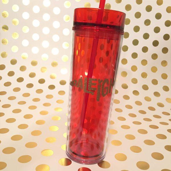 Raleigh skinny tumbler red