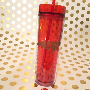 Raleigh skinny tumbler red