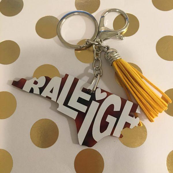 Raleigh tortoise NC keychain
