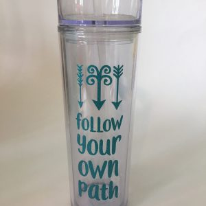 follow your path skinny tumbler
