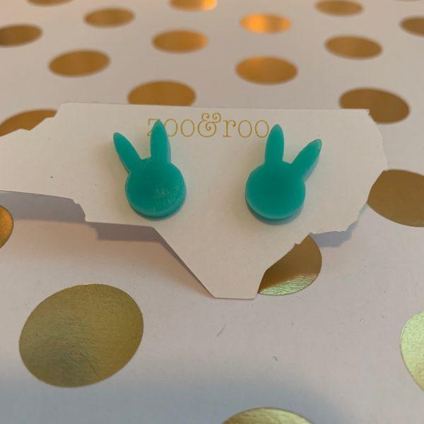 bunny earrings in tropic aqua by zoo&roo