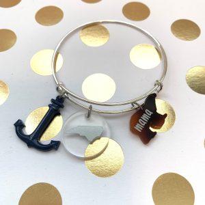 mama bear anchor NC charm bracelet