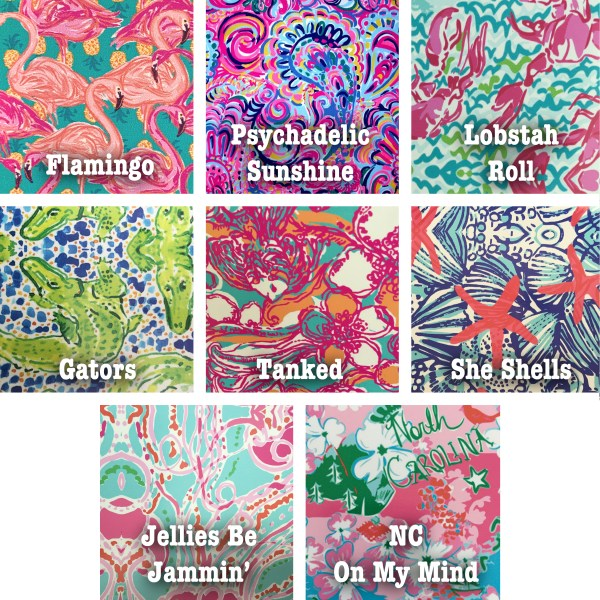 Lilly inspired pattern vinyl choices