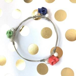 skull wire wrapped bracelet