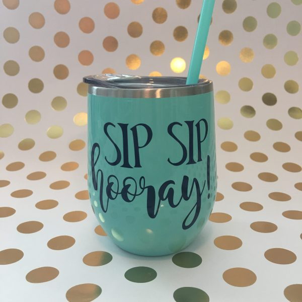 sip sip hooray mint with navy