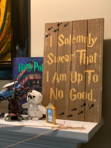 I solemnly swear that I am up to no good hand painted sign