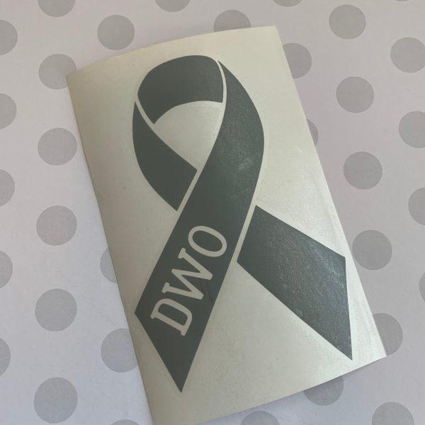 brain tumor awareness ribbon decal custom initials