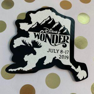 Disney Wonder Alaska cruise magnet