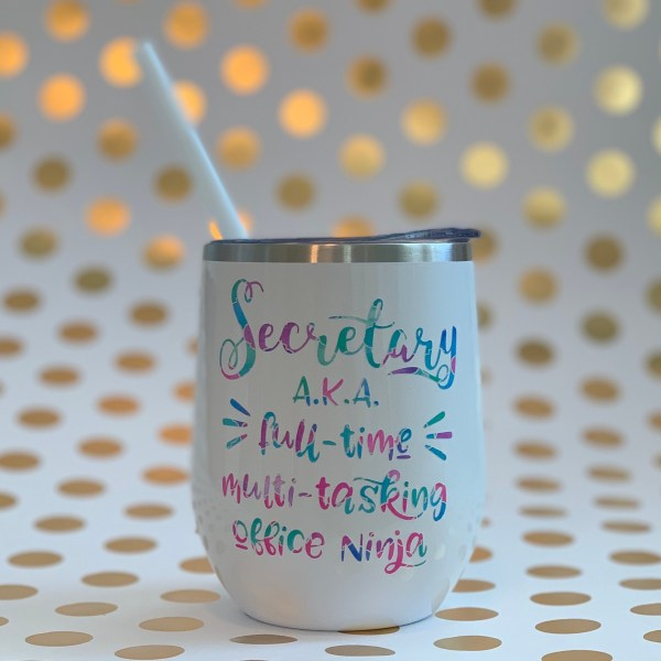 Secretary office ninja wine tumbler