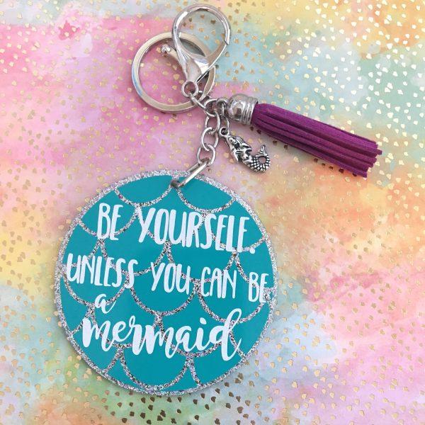 be a mermaid keychain