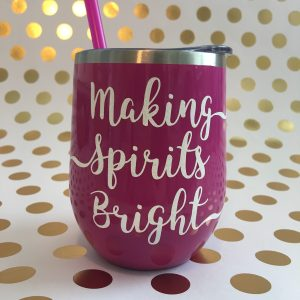 making spirits bright stainless wine tumbler