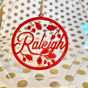 Raleigh ornament red