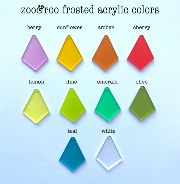 frosted acrylic color choices