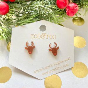 reindeer acrylic earrings