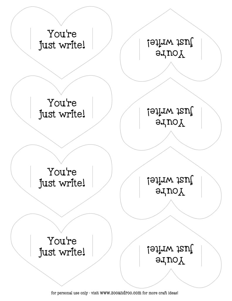 you're just write valentine free printable jpg