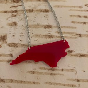 NC acrylic necklace red