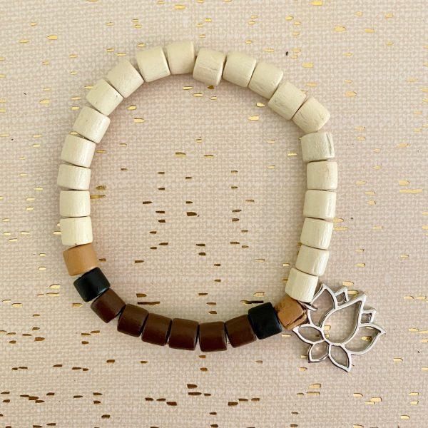 simplify DIY bracelet white lotus flower
