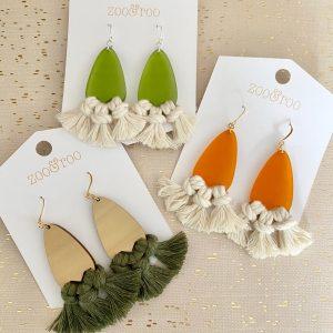 palmata tassel earrings