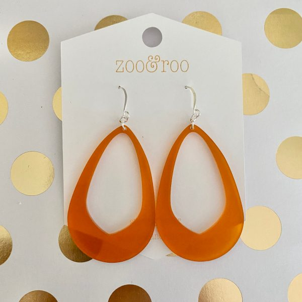 Olivia earrings frosted amber