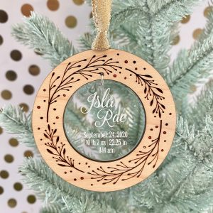 sweet wreath baby christmas ornament