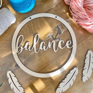 balance macrame hoop