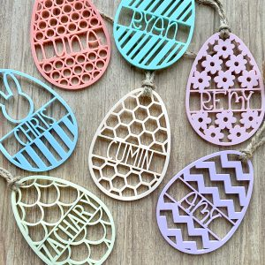 Personalized acrylic Easter egg tags