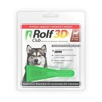 Rolf Club 3D капли от блох и клещей для собак 20-40 кг