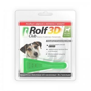Rolf Club 3D капли от блох и клещей для собак 4-10 кг