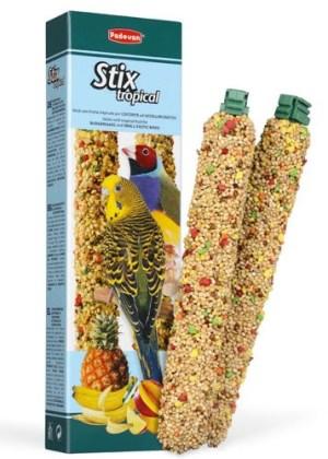 STIX TROPICAL cocorite/esotici Дополнительный корм для волнистых попугаев и маленьких экзотических птиц