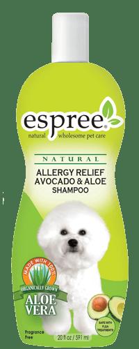 Allergy Relief Avocado & Aloe Dog Shampoo Шампунь для чувствительной кожи с маслом авокадо и алое вера
