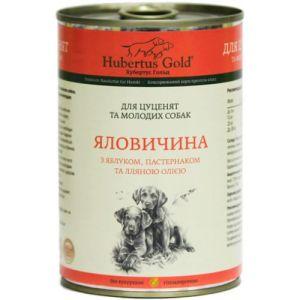 Hubertus Gold Говядина с яблоком и Пастернаком для щенков