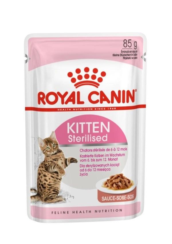 Royal Canin Kitten Sterilised (кусочки в соусе) Консервы для стерилизованных котят от 6 до 12 месяцев