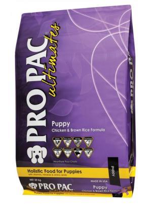 Pro Pac Ultimates Puppy Chicken & Brown Rice Formula сухой холистик корм с курицей, белой рыбой и рисом